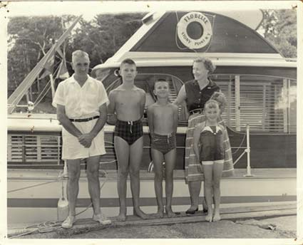 Arnold, John, Tom, Margaret and Ruth Gough circa 1958